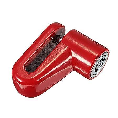 JenNiFer Scooter El/éctrico Antirrobo Cable De Acero Bloqueo Frenos De Disco Ruedas Armario para Xiaomi Mijia M365 Rojo