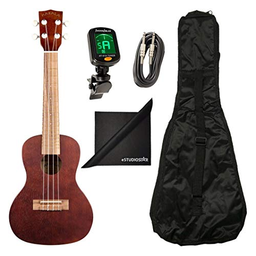 - Kala MK-CE Makala Concert Acoustic-Electric Ukulele with Mahogany Neck and Rosewood Fretboard with Axcessables UB-C Gig Bag and Axcessables 10ft Instrument Cable