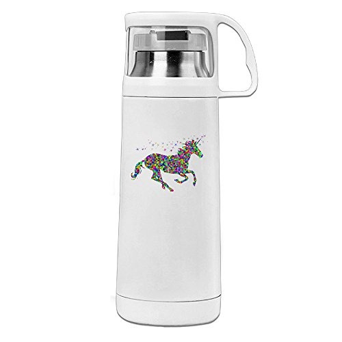[Beauty Rainbow Unicorn Water Bottle With A Handle Vacuum Insulated Cup For Hot And Cold Drinks Coffee,Tea Travel Thermal Mug,14oz] (Persona 4 Dancing All Night Costumes)