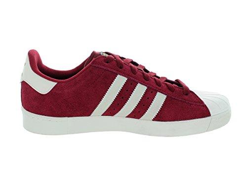 Adidas Mens Superstar Vulc Adv Cburgu / Cwhite / Cburgu Scarpa Da Skate 10 Uomini Us