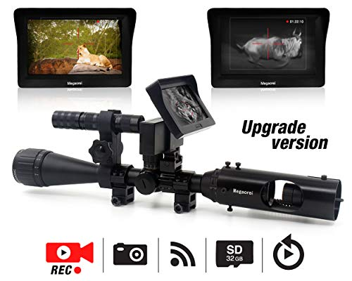 Rifle Night Vision | Night Scopes for Hunting with 720p HD Digital Video Recording 3MP and 16MM Camera Lens (Take Video and Photo) | Night Vision Air Rifle Scope