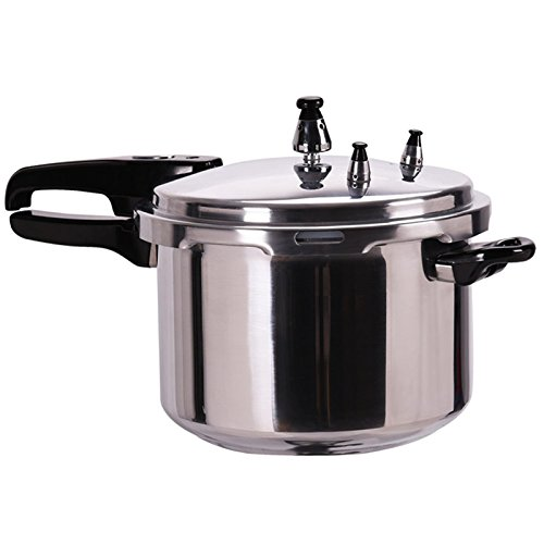 6-Quart Aluminum Pressure Cooker Fast Cooker Canner Pot Kitchen TKT-11 (Flat Bottom Canner)