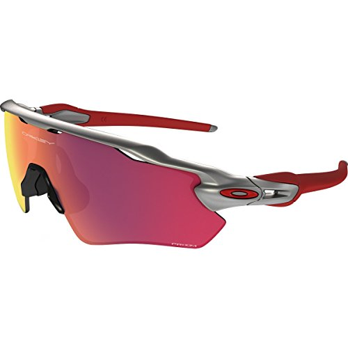 Oakley Men's Radar Ev Path Non-Polarized Iridium Rectangular Sunglasses, Silver, 38.008 - Ev Oakley Radar Prizm
