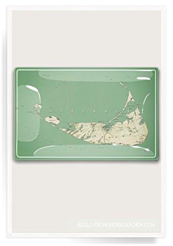 (Nantucket Sound Decoupage Glass Tray)