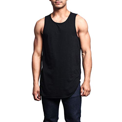 Koolee/_Tops Mens Tank Top Summer Fitted Muscle Cut Workout Tank Tops Gym Bodybuilding T-Shirts
