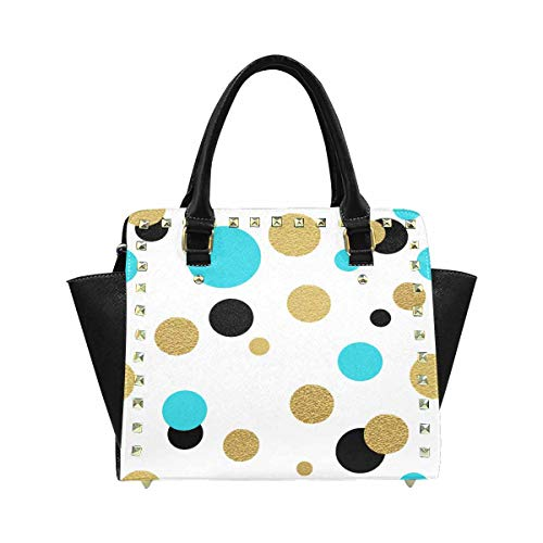 InterestPrint Classic Polka Dot Hobo Handbags Tote Purse for Women Fashion Ladies