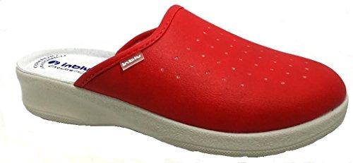 inblu Pantofole Ciabatte SANITARIE da Donna MOD. 50-33 Rosso