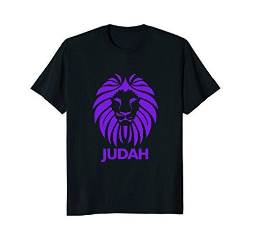 Hebrew Israelite Shirt Lion Of Judah in Purple Tee