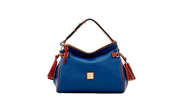 Amazon.com  Dooney   Bourke Pebble Grain Medium Zip Hobo Shoulder Bag  Midnight Blue  Shoes 60859ff588b7f