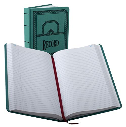 (Boorum & Pease 66500R Record/Account Book, Record Rule, Blue, 500 Pages, 12 1/8 x 7 5/8)