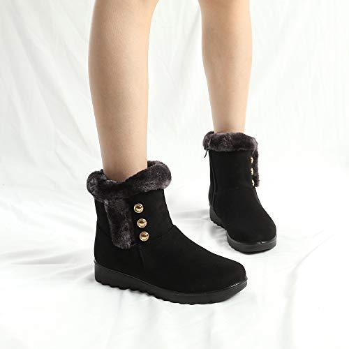 Hiver Neige Blackb Brun Fausse Chaudes Bottes Noir De Cheville Femmes En Fourrure Chaussures Martin 35 Courtes Vin 41 H4dpXwq