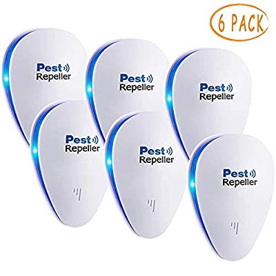 JALL Upgraded Ultrasonic Pest Repeller Plug in Pest Reject Control, Electric Mouse Repellent for Cockroach, Mosquito, Mice, Rat, Roach, Spider, Flea, Ant, Fly, Bed Bugs, No Poison or Sprays
