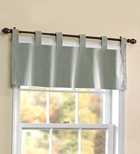 Thermalogic Energy Efficient Solid Tab-Top 40 W x 15 L Valance, in Sage