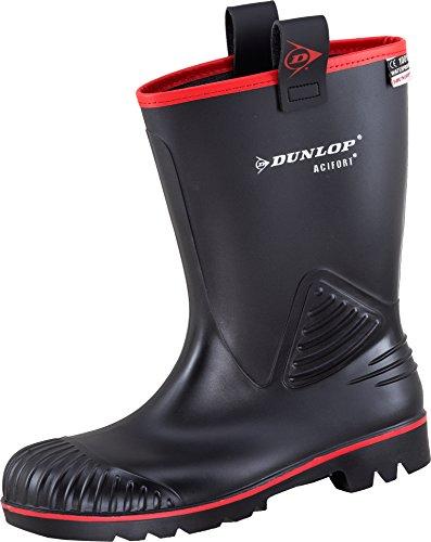 Dunlop - Botas de Pvc para hombre Negro negro negro