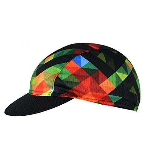 Maritown Unisex Cycling Cap, Vintage Multi coloured Lightweight Breathable Anti-sweat Hats Summer Under Helmet Cap for…