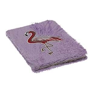 Faux Fur Violet Flamingo Notebook