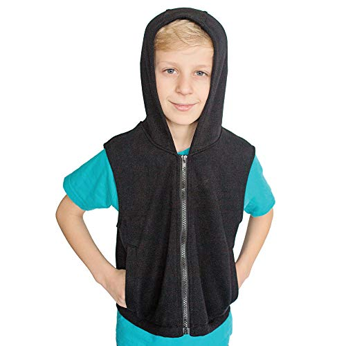 Fun and Function's Weighted Fleece Hoodie - Helps With Mood & Attention, Sensory Over Responding, Sensory Seeking, Travel Issues - Size -