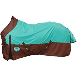 Tough 1 1200 Denier Water Repellent Horse Sheet, Turquoise/Brown, 72-Inch
