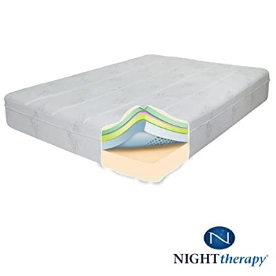 "Night Therapy 10"" Therapeutic Pressure Relief Memory Foam Mattress - King"