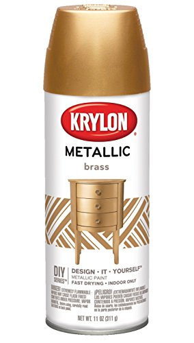 Krylon K02204007 General Purpose Aerosol, 12-Ounce, Brass Metallic Finish