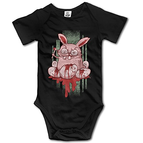 [Unisex-Baby Easter Bunny Unisex Baby Clothes SHORT SLEEVES One Set] (Halloween Animatronics Sale)