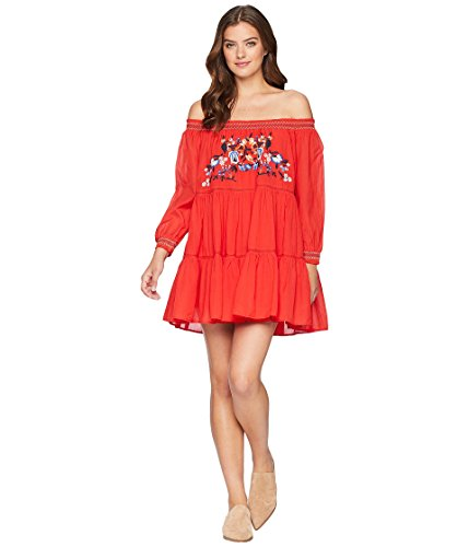 Free People Women's Sunbeams Mini Dress Red Small