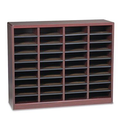 Wood/Fiberboard E-Z Stor Sorter, 36 Sections, 40 x 11 3/4 x 32 1/2, Mahogany, Sold as 1 Each (Products Section Safco Six)