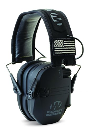 Walkers Game Ear Walker's Razor Slim Electronic Muff Patriot Series- black