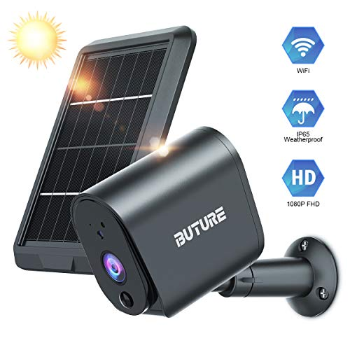Outdoor Security Camera, BuTure Wireless Camera for Home Security, Solar Panel with Rechargeable Battery, 1080P Video…