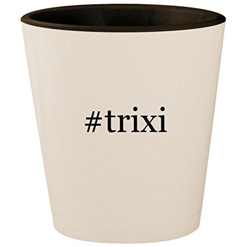 (#trixi - Hashtag White Outer & Black Inner Ceramic 1.5oz Shot Glass)