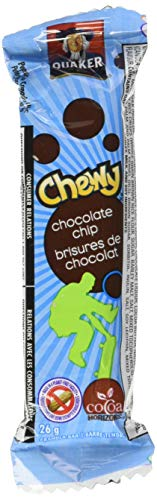 - Quaker Chewy Granola Bars, Chocolate Chip, 26 Gram, 48-Pack, Peanut-Free