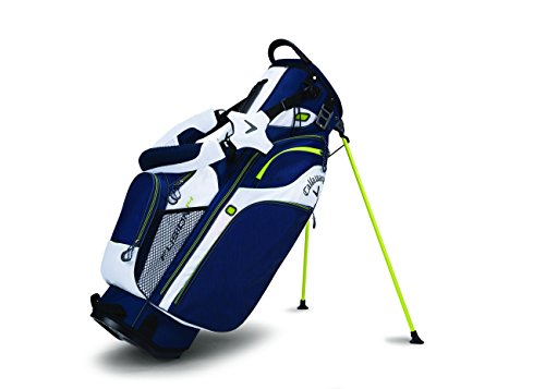 Callaway Golf Fusion 14 Stand Bag Stand / Carry Golf Bag 2017 Fusion 14-Way Divider Top Navy/White/Neon Green