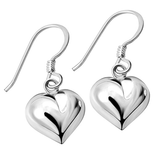 (YACQ Women's 925 Sterling Silver Love Heart Dangle Earrings Valentines Day Jewelry Gifts For Her)