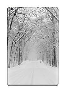Cute High Quality Ipad Mini/mini 2 Amazing Winter Snowy Road Case