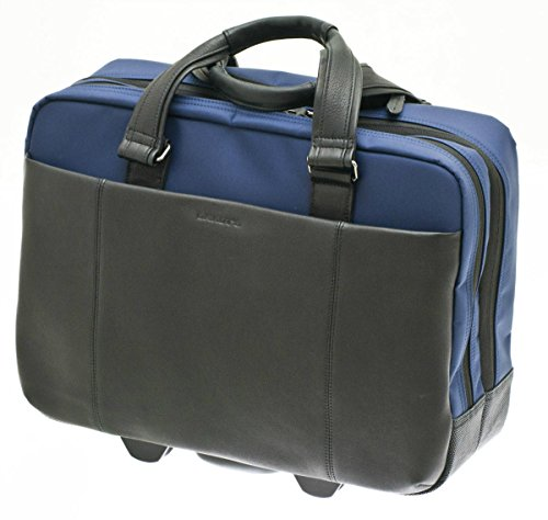 Davidts Berckely Echt Leder Pilotenkoffer Aktenkoffer Business Laptop Trolley Bag Schwarz Blau 452 080 Bowatex