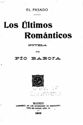 El Pasado  [Baroja, Pio] (Tapa Blanda)