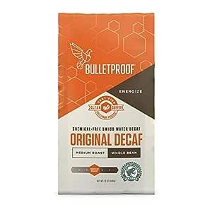 Bulletproof The Original Whole Bean Decaf Coffee, Medium Roast, 12 Oz, Keto Friendly, Certified Clean Coffee, Rainforest Alliance, Whole Bean