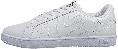 Etnies Fader LS Bianco Verde Pelle Uomo Skate Sneaker Scarpe Stivali