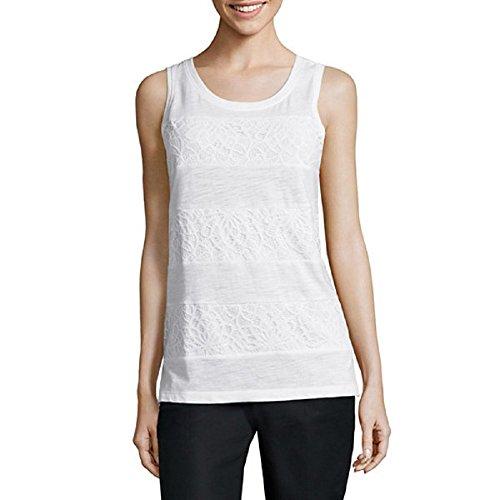 liz-claiborne-lace-stripe-tank-top-size-xl-white