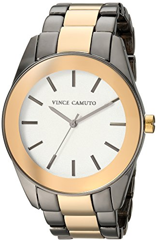Vince Camuto Women's VC/5343GYTT Gold-Tone and Gunmetal Bracelet Watch