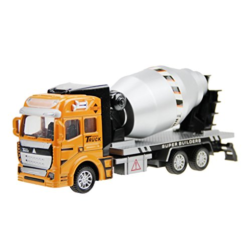 Holiberty 1:48 Scale Childrens Boys Toddlers Car Toy Gift Pullback Alloy Diecast Car Model Concrete/Cement Mixer Truck Lorry Building Construction Vehicle Boxed for Kids 3 Years and up