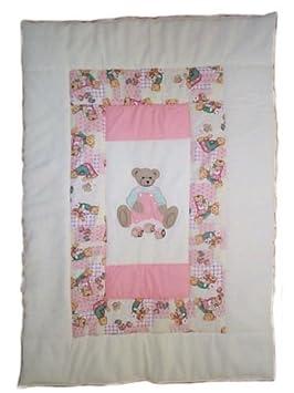 Steppdecke Decke Decke Decke Baby-Wiege mit Stickerei für Mädchen 120 x 170 cm Cocon Bebè