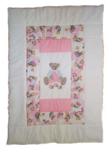 Colcha trapuntina manta manta bebé para cuna con bordado ...