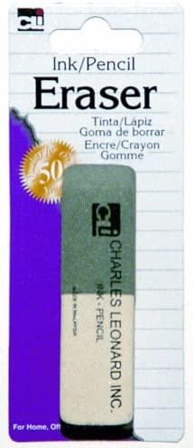 Amazon.com: Charles Leonard Inc. Tarjeta de tinta/lápiz goma ...