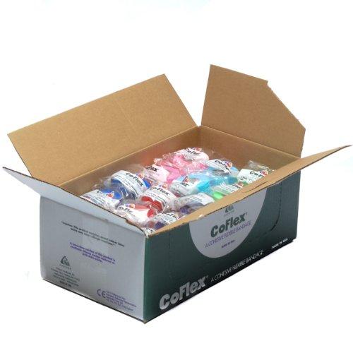 "Coflex Elastic Wrap 2"" X 5"" yds  Colorpack 36 Rolls/box"
