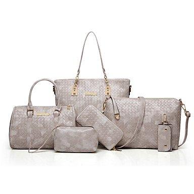 Las mujeres de moda clásica bolsa Crossbody,azul Brown