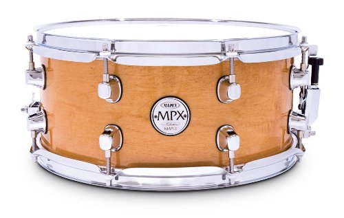 Mapex MPX 13 inch x 06 inch All maple snare drum in natural finish with chrome hardware