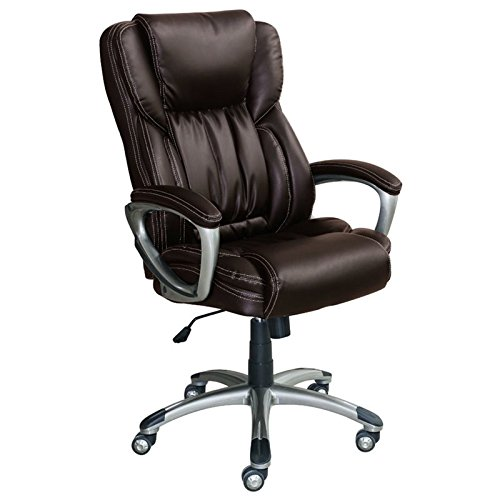 Serta Works Executive Office Chair, Midnight Black Bonded Leather