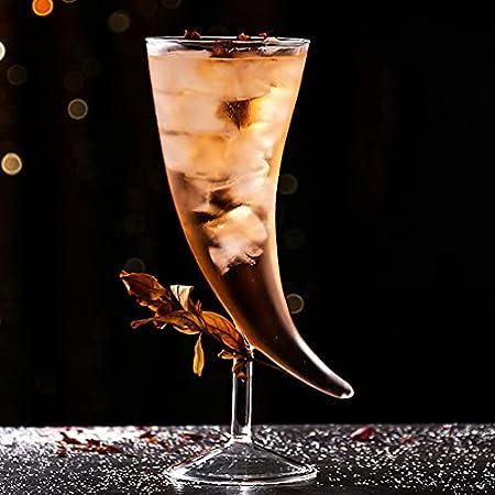 DOITOOL Copa de Champán Flautas Forma de Vaso de Martini Creativo Copa de Vidrio Vaso de Jugo para Whisky Cocina Bar Fiesta de Boda (Transparente)