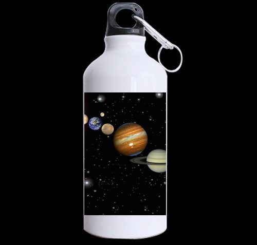 Flipped Summer Our Solar System Customized Sports Water Bottle Art Printing Travel Cup Twin Sides